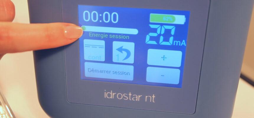 Barre d'énergie optimiser la ionophorèse